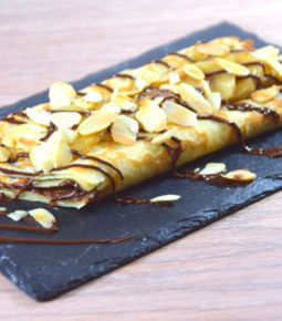 Crepe chocolat banane amande